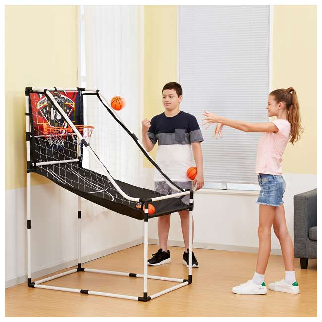 BBG025_017P-U-B Lancaster 2 Player Junior Arcade Basketball Dual Hoop Shooting Game Set (Used) 4