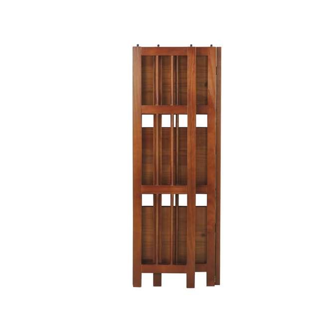 331-39 Casual Home 3 Shelf 14 Inch Folding Office Furniture Wood Bookcase, Mahogany  4