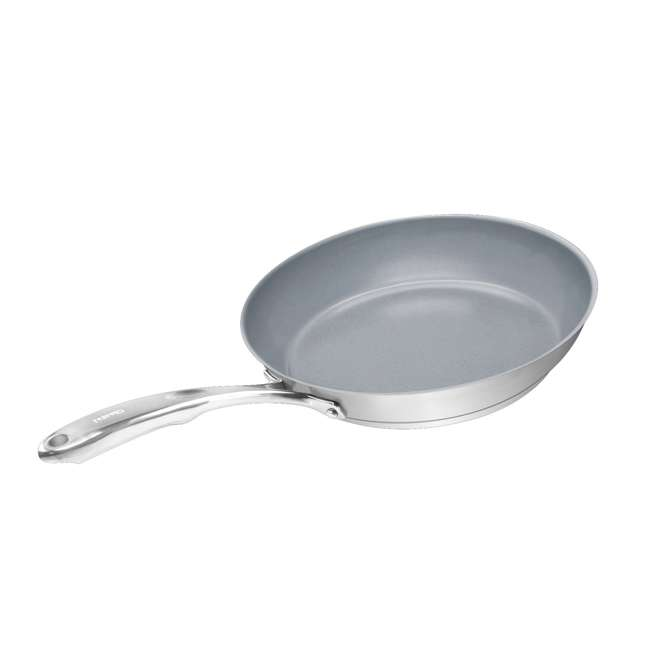 SLIN-2024C Chantal 21 Steel Fry Pan Pack with Ceramic Coating (2-Pack) (2 Pack) 3