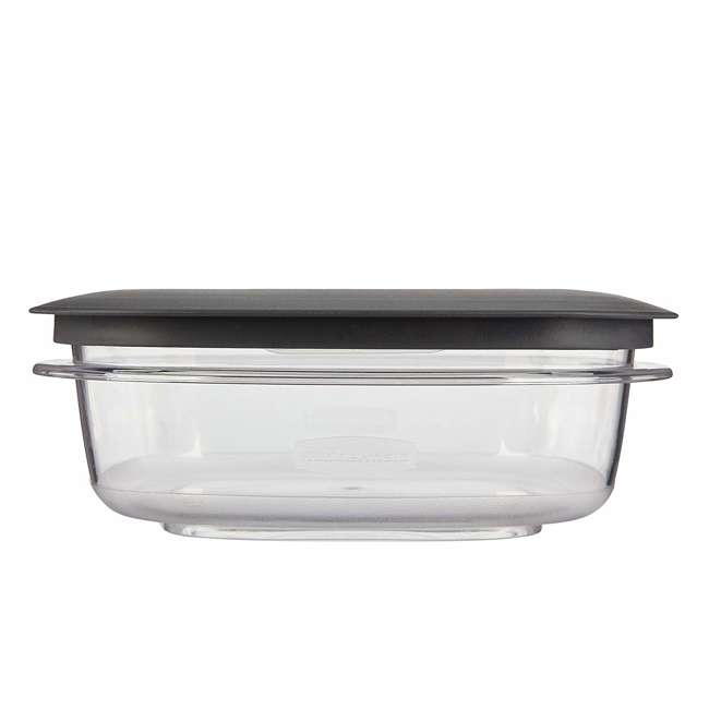 1937648 Rubbermaid 3-Cup Square Storage Container with Lid, Clear 5