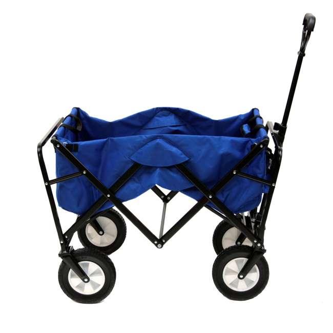 3 x MAC-WTC-111-BLUE-U-A Mac Sports Folding Steel Frame Outdoor Utility Wagon Cart (Open Box) (3 Pack) 2