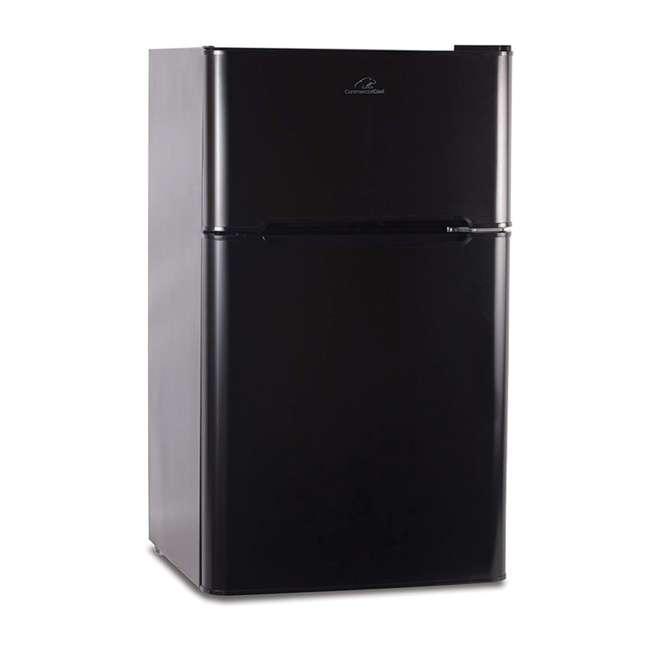 CCRD32B Commercial Cool Compact Portable 2-Door Refrigerator/Freezer (Black)