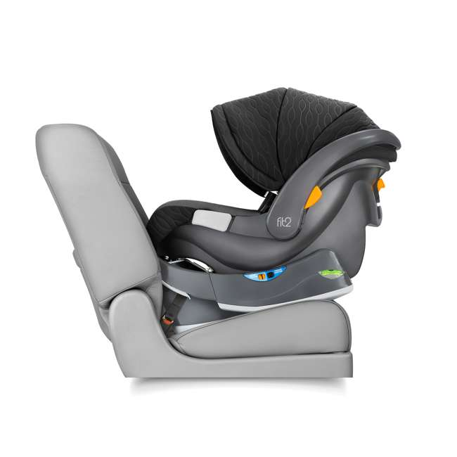 CHI-0407977128 Chicco Fit2 Infant/Toddler Rear Facing Car Seat w/ 2 Stage Base, Tullio Blue 2