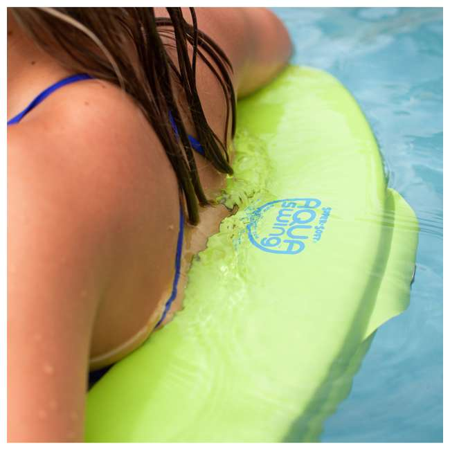 8210039 TRC Recreation Vinyl Covered Floating Aqua Swing Chair Pool/Spa Lounger, Green 2