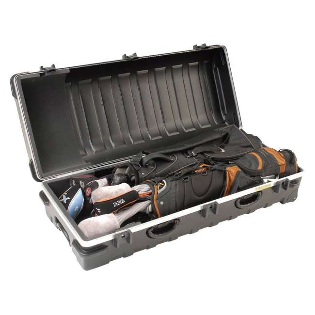 2SKB-5020W-U-A SKB Cases Double ATA Hard Plastic Wheeled Golf Bag Travel Case (Open Box) 4