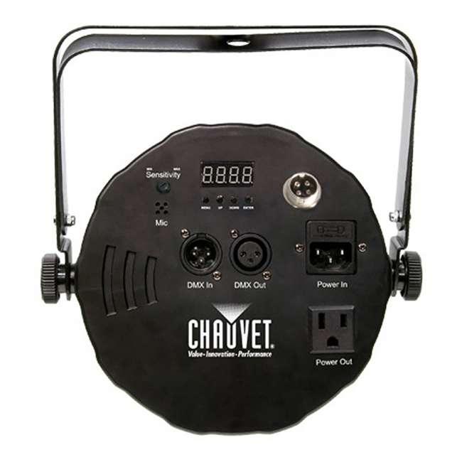 8 x SLIM-PAR56 + 8 x DMX3P10FT + F4PAR-BAG + OBEY6 Chauvet SlimPar 56 LED Par Can Lights + Obey 6 Controller + Bag + Cables 3