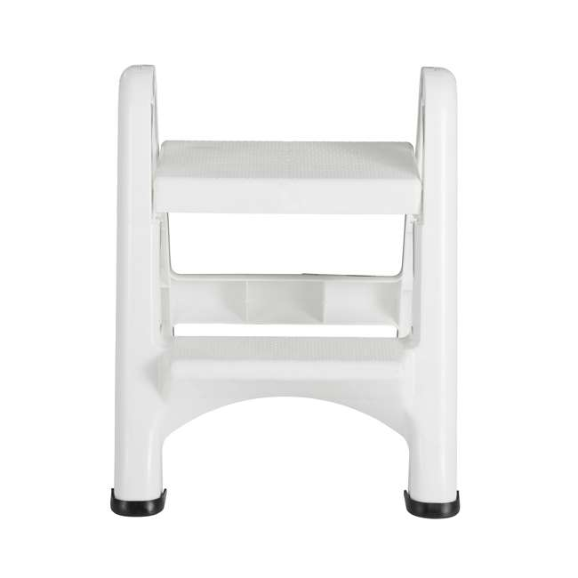 FG420903WHT Rubbermaid EZ Step 2 Step Folding Step Stool with Foot Pads, White (2 Pack) 2
