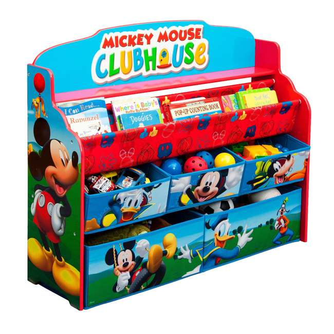 TB84983MM-1051 Delta Children Mickey Mouse Deluxe Book and Toy Organizer 2