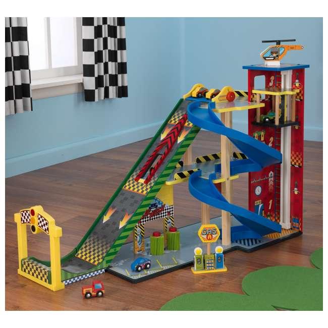 63267-U-A KidKraft Kids Mega Ramp Racing Set for Matchbox and Hotwheels Cars (Open Box) 2