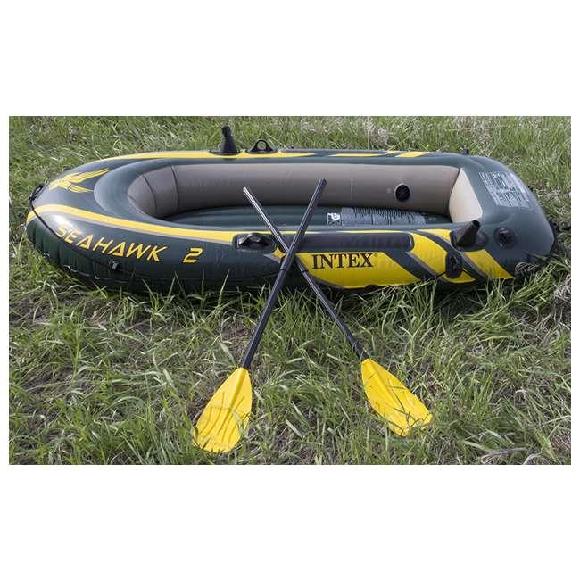 68347EP + 2 x 68631E Intex Seahawk 2 Inflatable Raft & 2 Trolling Motors 3