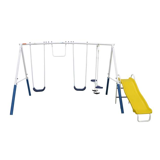 XDP-74303 + XDP-70113 XDP Blue Ridge Play Backyard Swing Set with Slide + Anchor Kit 2