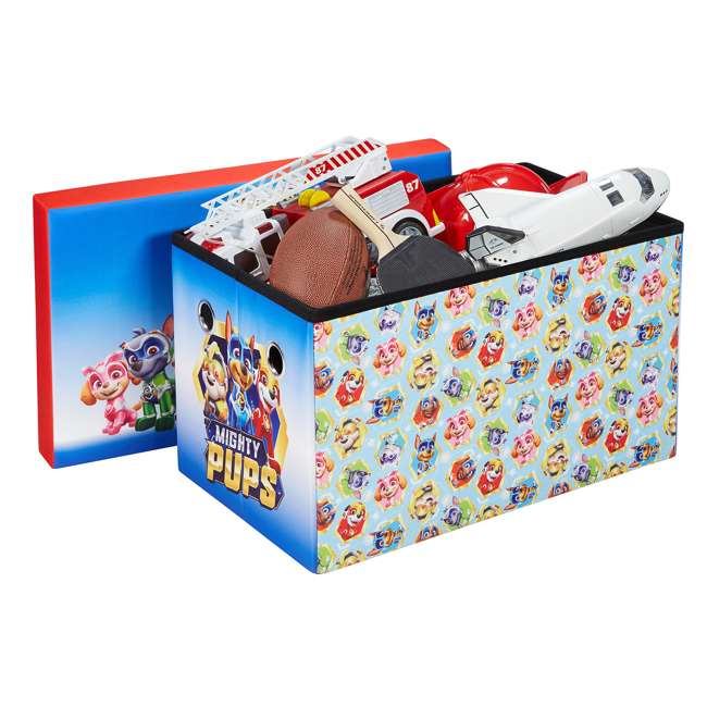 520021-005 Fresh Home Elements 30-Inch Licensed Folding Super Toy Chest & Bench, Paw Patrol 2