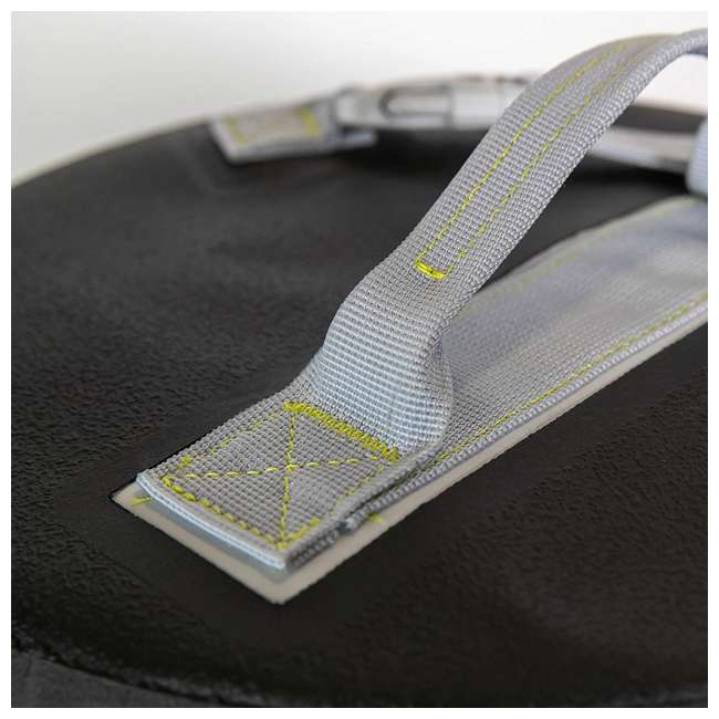 77-57796 Yampa 70 Liter Dry Duffle Waterproof Backpack Bag, Hazy Harbor Gray and Blue 3