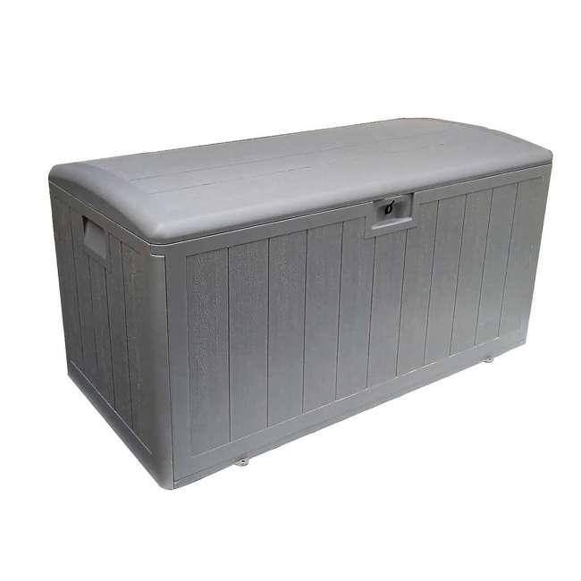 HDEDB105WLG-SC Plastic Development Group 105-Gallon Resin Outdoor Storage Deck Box, Driftwood