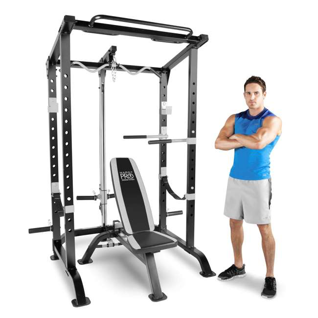 MWM-4484 Marcy Pro Full Cage and Bench System 1