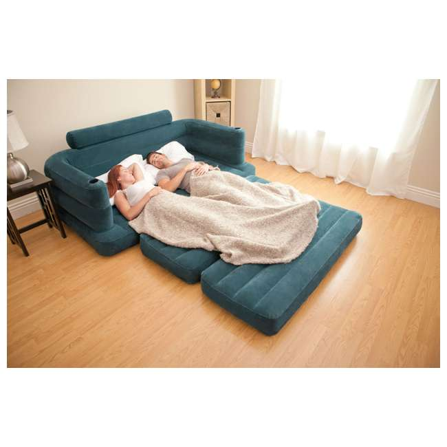 68566EP-U-B INTEX Inflatable Pull-Out Sofa & Queen Bed Mattress Sleeper (Used) (2 Pack) 5
