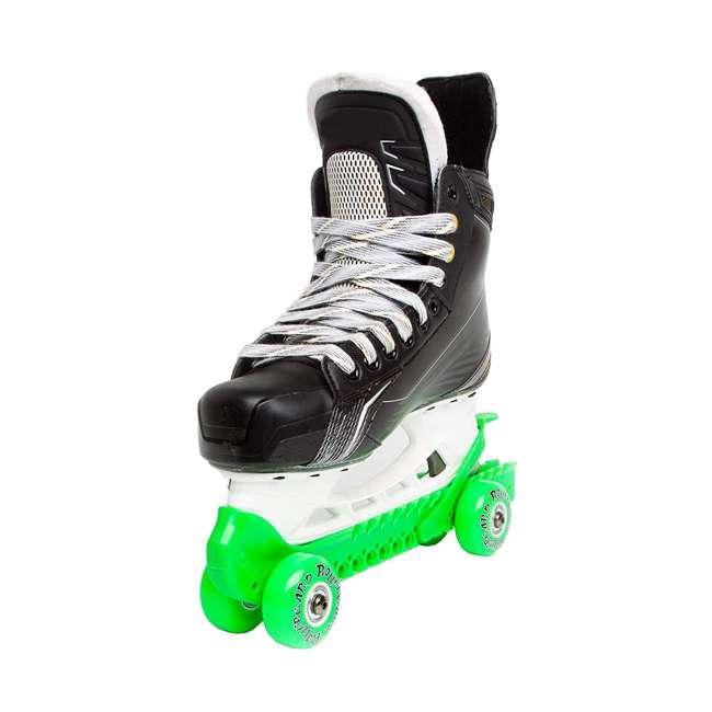 44374-G Rollergard 44374-G Adjustable Kids Ice Skate Guard & Roller Skate, Green (Pair) 2
