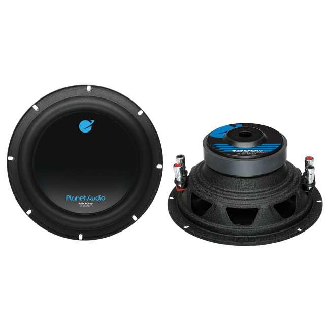 AC8D + AC26002 Planet Audio AC8D 8-Inch 2400W Subwoofers + 2600W Amplifier (Package) 1