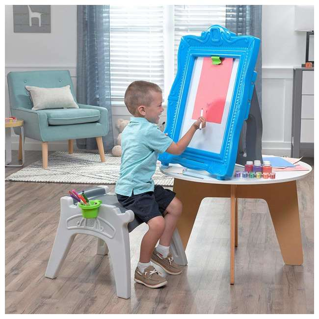 step2 kids dry erase easel top blue 483100. Black Bedroom Furniture Sets. Home Design Ideas