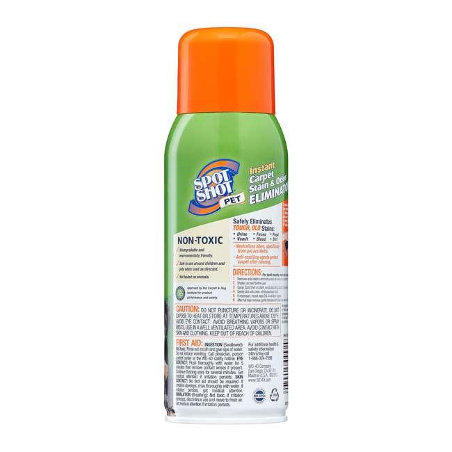 WD-009208 Spot Shot Pet Instant Carpet Stain and Odor Eliminator Aerosol Spray, 14 Ounce 3