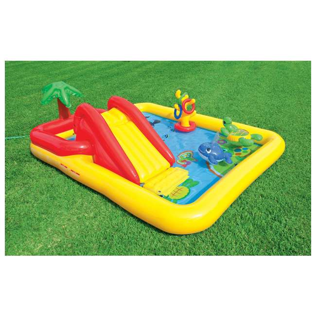 57454EP-U-B Intex Ocean Play Center Kids Inflatable Wading Pool - Used 1