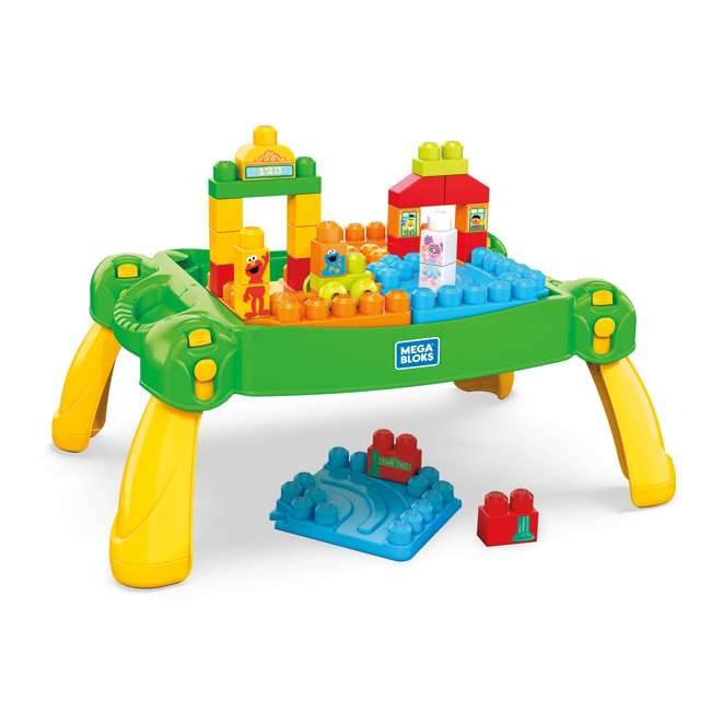 FWF03 Mega Bloks Sesame Street Build and Learn Table Play Set