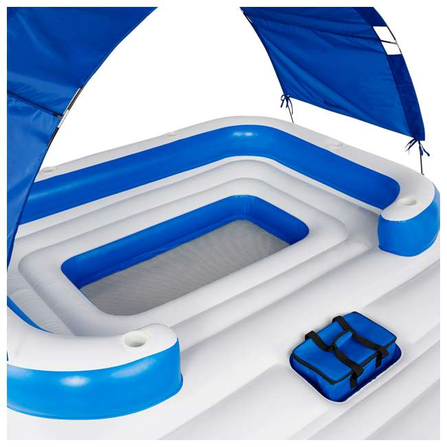 43105E-BW + 43115E-BW Bestway CoolerZ Tropical Breeze 6 Person Floating Island with 4 Person Island 3