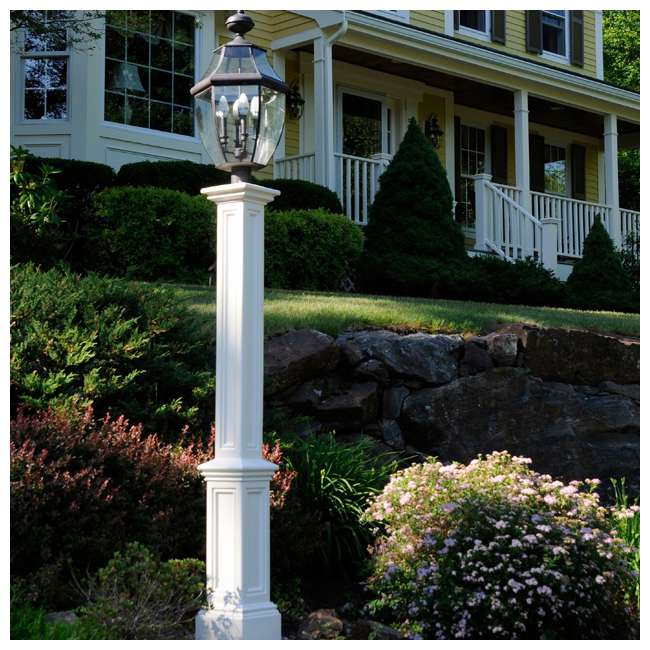 MO-5835-B Mayne 6 Foot Plastic Outdoor Signature Lamp Post with Steel Ground Mount, Black 1