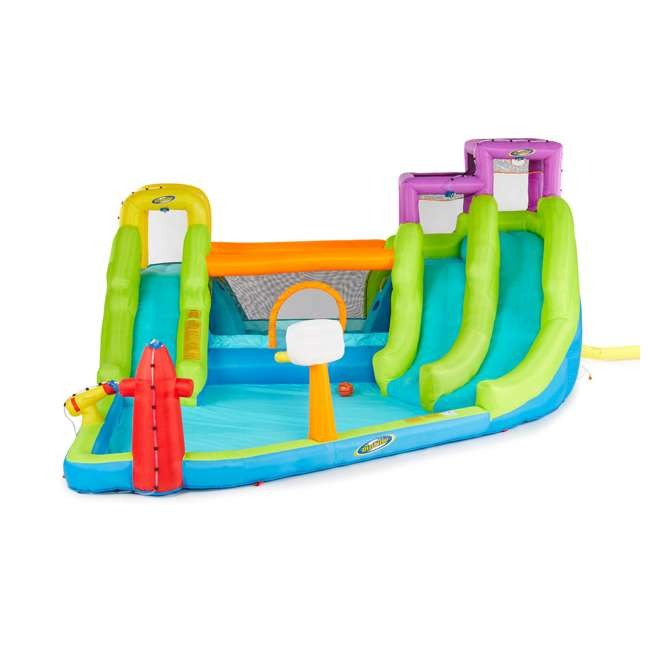 MTI-90717 RipTide Triple Fun Inflatable PVC Water Park with 3 Slides & Obstacle Course