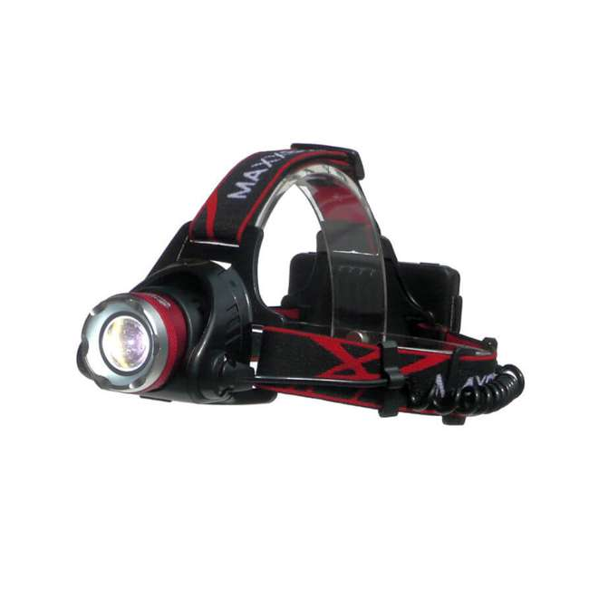 MXN00630 Maxxeon 630 WorkStar Technician's Micro USB Rechargeable LED Work Headlamp, Red