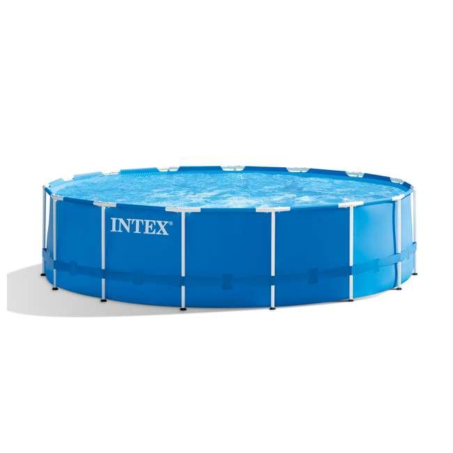 "28241EH-U-A Intex 15' x 48"" Above Ground Pool Set w/ Pump Cover&Ladder | (Open Box) (2 Pack) 7"