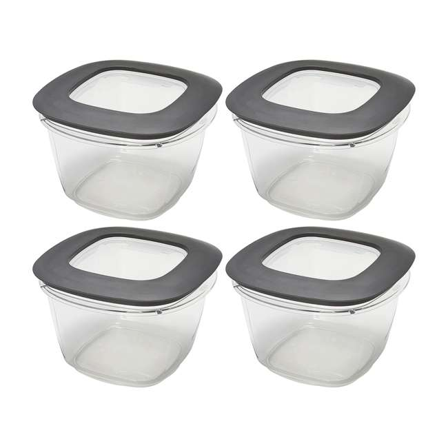 4 x 1951296 Rubbermaid Premier Easy Find Lids Clear Plastic Food Storage Containers (4 Pack)