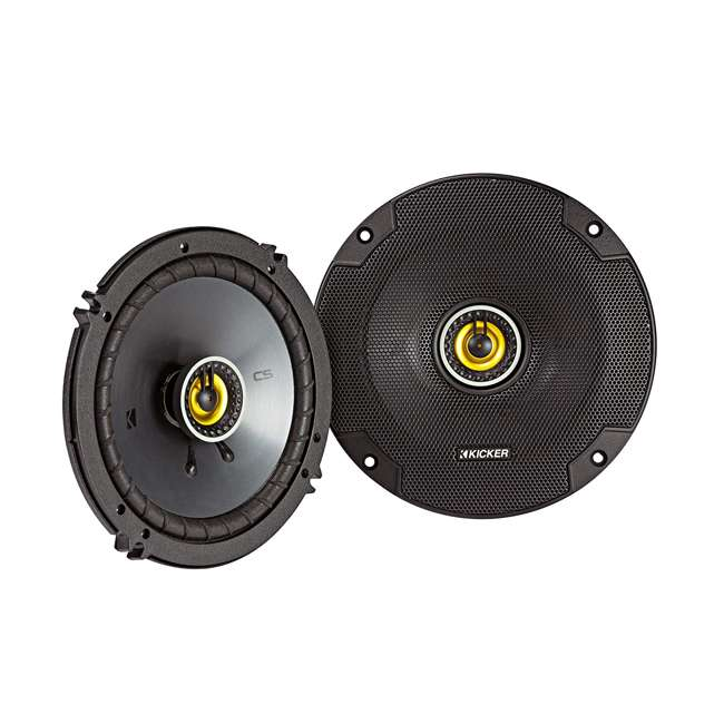 46CSC654 Kicker CS Series CSC65 6.5 Inch Car Audio Speaker with Woofers, Yellow (4 Pack) 1