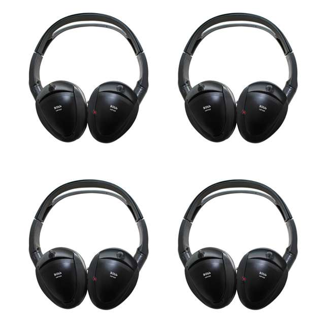 4 x HP32 Boss HP32 Black Dual Channel Infrared Foldable Wireless Headphones (4 Pack)