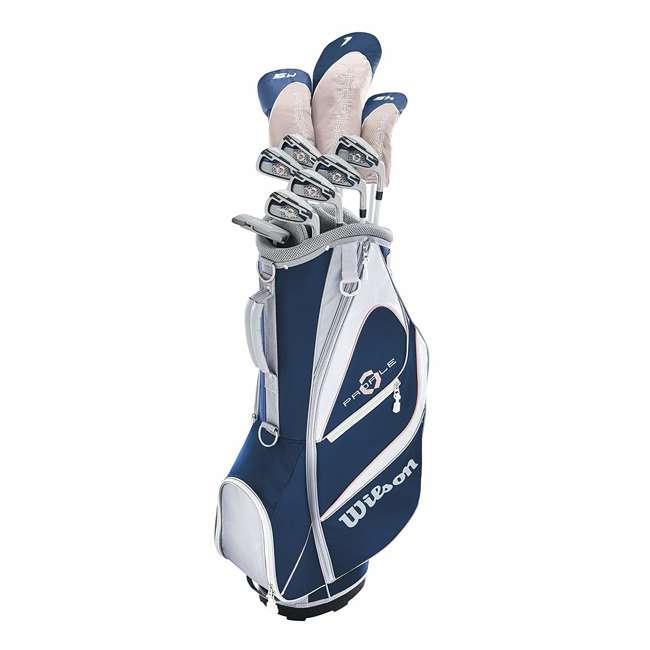WGGC5900L Wilson Profile XD Women's Left Handed Golf Club Set w/ Cart Bag 1