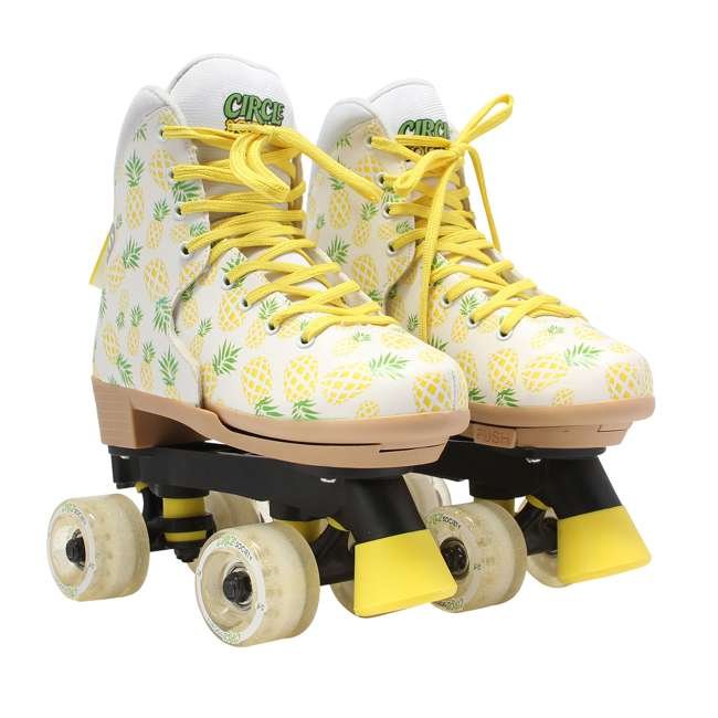 168219 Circle Society Craze Crushed Pineapple Kids Skates, Sizes 3 to 7