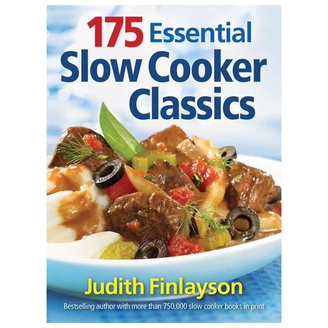 33473 + SLOWCOOKER175 Hamilton Beach Countertop 7 Qt Programmable Slow Cooker & 175 Recipe Cookbook 8