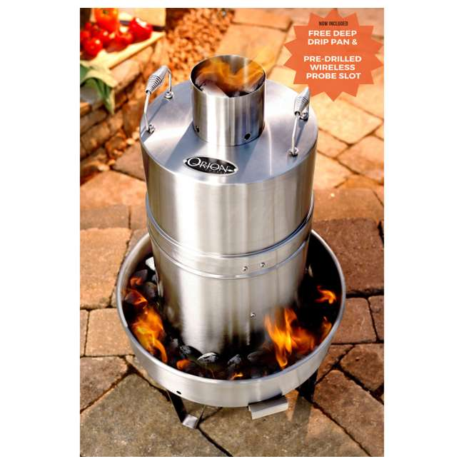 OC-CKR01 + OC-CRV01 Orion Cooker Outdoor Convection Steam Cooker Barbecue Smoker + Heavy Duty Nylon Lined Cover 3