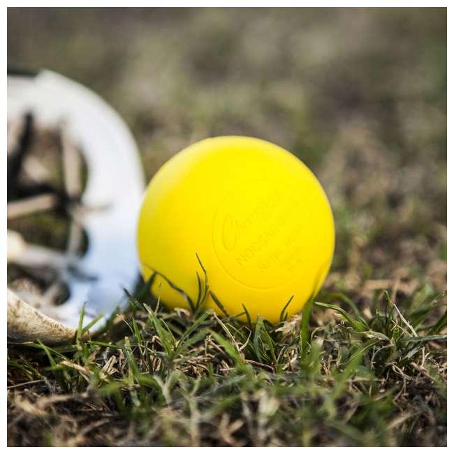 LBYN36 Champion Sports Official Rubber Bulk Lacrosse Lax Balls 36 Count Bucket, Yellow 5