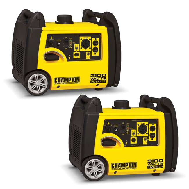 CPE-GN-75531i Champion 3100-Watt Portable RV Ready Inverter Generator (2 Pack)