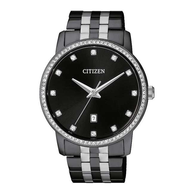 BI5037-52E-U-A Citizen Mens Quartz Stainless Steel Time Watch Wristwatch, Black (Open Box)
