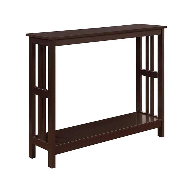 S20-249 Convenience Concepts Mission Wooden Painted Console Table, Espresso