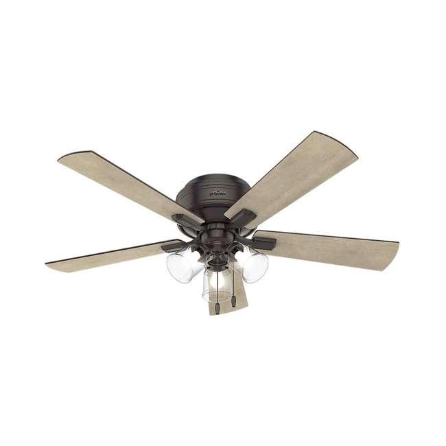 54208 Hunter Fan Company Crestfield 52 Inch Ceiling Fan w/ Light & Remote, New Bronze