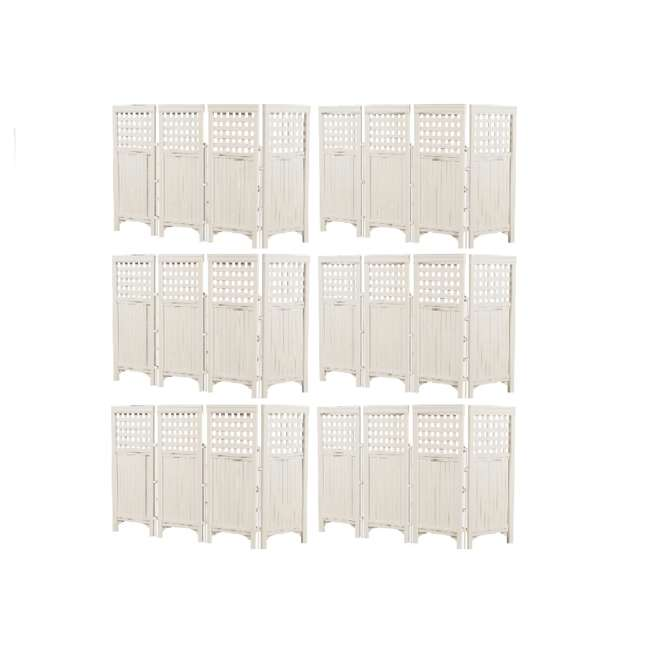 6 x FS4423T Suncast Outdoor Steel and Resin 4 Panel Screen Yard Enclosure, Taupe (6 Pack)