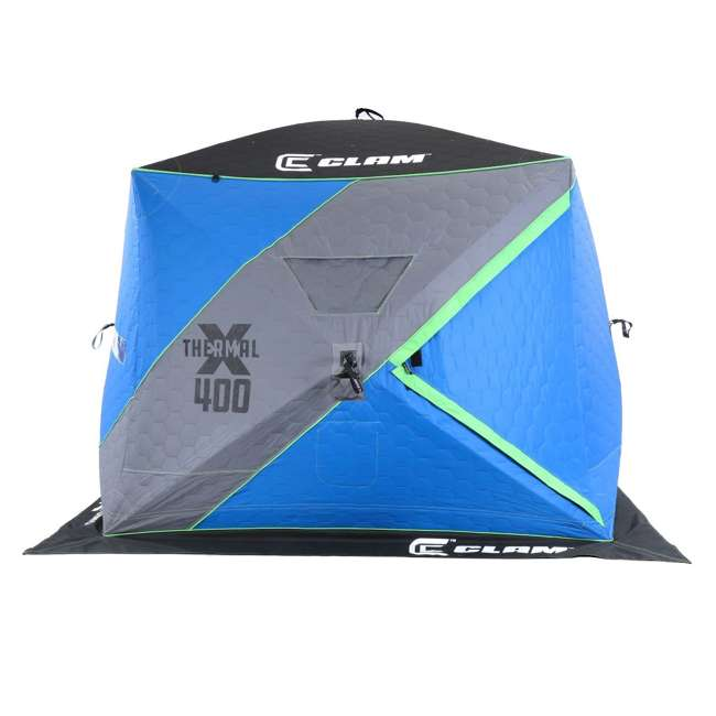 CLAM-14469 Clam X400 Thermal 4-6 Person Outdoor Portable Pop Up Ice Fishing Shelter Tent 3