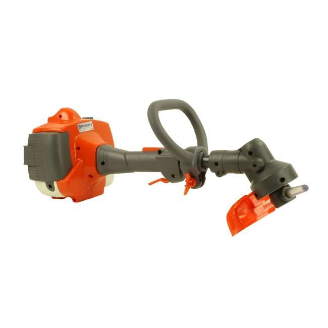 HV-TR-952711953 + HV-TOY-585729102 Husqvarna 128LD Gas Powered Lawn Trimmer & Battery Operated Toy Weed Trimmer 8