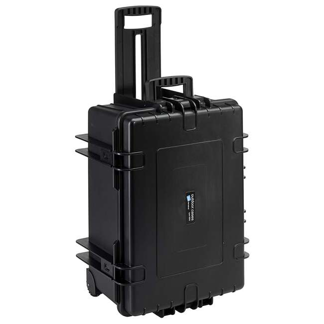 6800/B/SI B&W International 6800/B/SI 70.9 L Plastic Outdoor Case w/ Wheels & Foam Insert 2