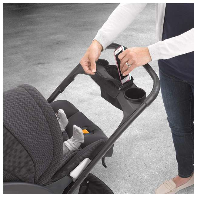 CHI-0607966295 Chicco Shuttle Frame Infant Stroller, Black 3