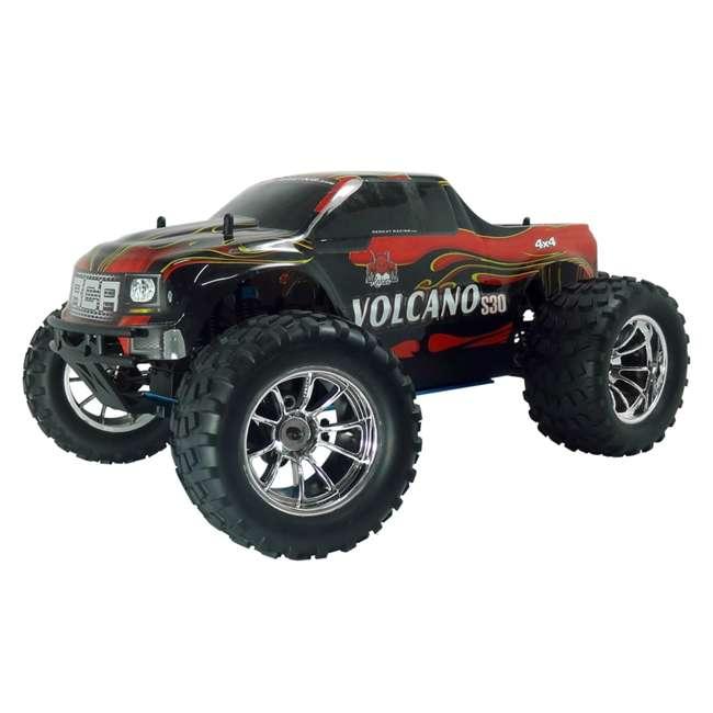 4 x VOLCANOS30-REDPU-88049-R Redcat Racing Volcano S30 Nitro RC Monster Truck (4 Pack) 1