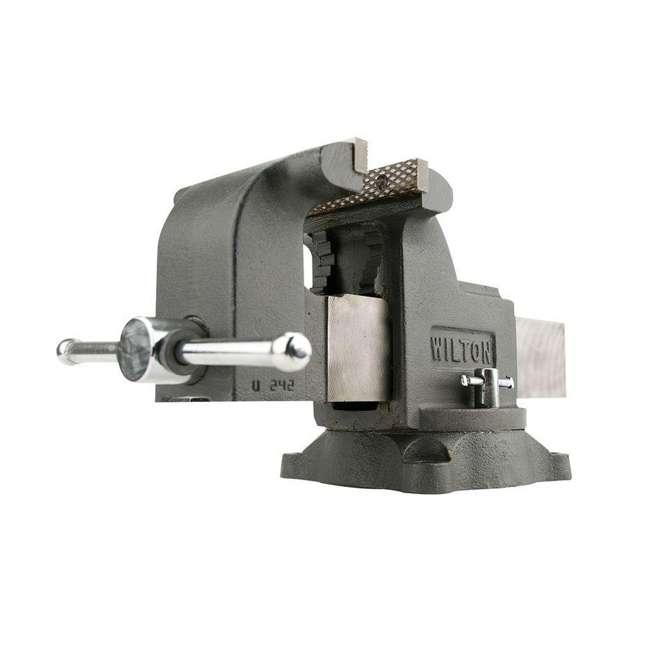 WIL-63302 + WIL-20816 Wilton WS6 6 In Bench Vise w/ 8 Pound Sledge Hammer 1